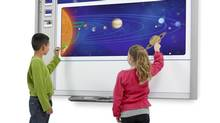 A Smart Technologies interactive whiteboard. (Smart Technologies)