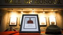 A memorial for RCMP Constable Adrian Oliver has been installed at the RCMP detachment in Surrey. (Rafal Gerszak/Rafal Gerszak for The Globe and Mail)