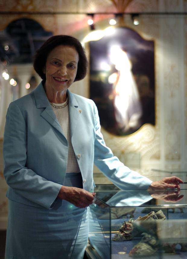 Sonja Bata in 2006 poses for a portrait in the Bata Shoe Museum in Toronto.