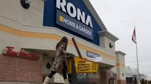 A shopper visits a Toronto Rona store in this file photo from February. (Chris Young For The Globe and Mail)
