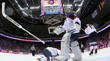 Bauer equipment was showcased at the 2014 Sochi Games, including here, at the gold-medal women's hockey game. (Martin Rose/AP)
