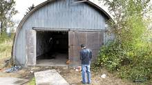 RCMP are investigating an alleged rape of a 16-year-old girl who they allege was drugged and raped by five to seven males outside a rave party in Pitt Meadows, in this structure behind the house seen here Sept. 17, 2010. (John Lehmann/The Globe and Mail/John Lehmann/The Globe and Mail)