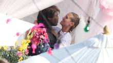 May 9, 2009: Heidi Klum and Seal renewing their wedding vows at a private ceremony in Malibu, California. The couple has since split (INFphoto)