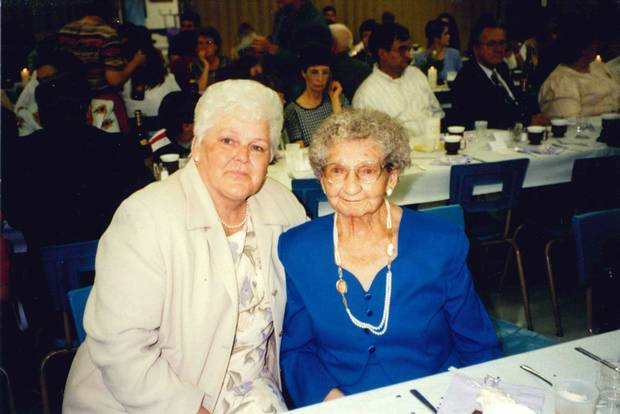 Terry Fox's mother Betty Fox (left) and grandmother Marian.