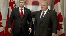 Toronto Mayor Rob Ford chatted about his fishing trip to Harrington Lake in an interview on NEWSTALK1010 Tuesday afternoon, noting that he and Stephen Harper have been going on fishing trips together for the past few years. (Moe Doiron/The Globe and Mail)