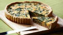 Irish cheddar, bacon and chard tart (Moe Doiron / The Globe and Mail/Moe Doiron / The Globe and Mail)
