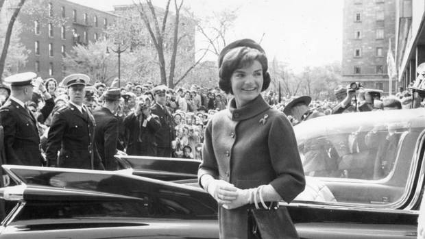 The real Jackie Kennedy visits the National Gallery in Ottawa while her husband and then-prime minister John Diefenbaker held talks.