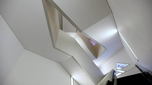 Angles and negative space photographed in the Michael Lee-Chin Crystal at the Royal Ontario Museum, on Feb. 18, 2015.