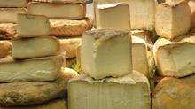 Cheeses on display at a market in Alba, in the region of Piedmont, Italy, in Oct. 2006.