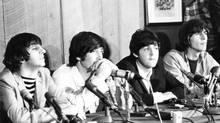 The Beatles at a press conference in Toronto August 17, 1965 (Boris Spremo/The Globe and Mail)