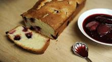 Plum cake with compote (Fred Lum/The Globe and Mail)