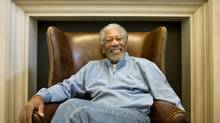 Morgan Freeman is in Canada to promote a documentary he has just produced called Prom Night in Mississippi. (Peter Power)