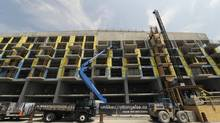 River City condominium development continues along River St. on May 28 2012. Condominiums are being built in the West Don Lands area that will house athletes for the upcoming Pan Am Games in 2015. (Fred Lum/Fred Lum/The Globe and Mail)