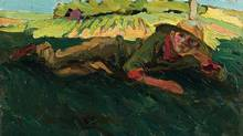 Artist Tom Thomson's painting Daydreaming. The rare portrait sold to a private collector in western Canada for $172,500, including buyer's premium. (THE CANADIAN PRESS)