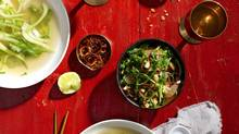 Chicken broth with ginger (Andrew Grinton For The Globe and Mail)