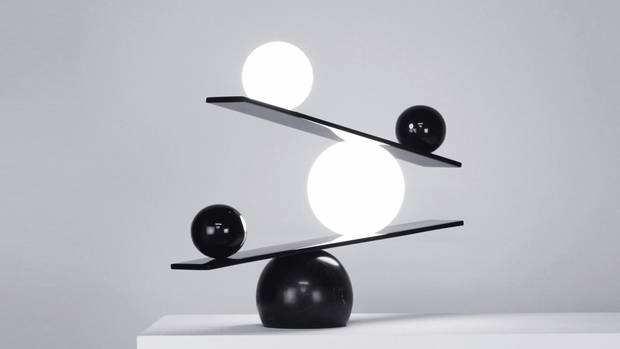 The Balance light, which never stays still, mimics the constant movement of life.