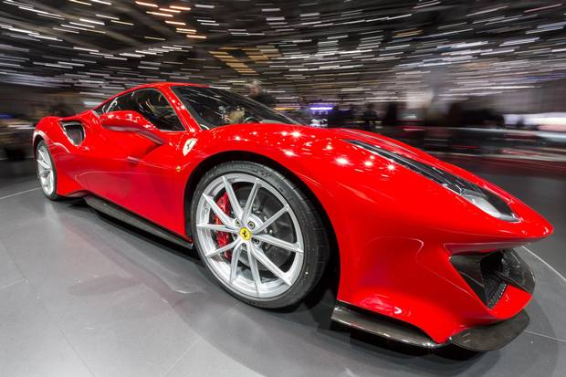 The New Ferrari 488 Pista presented on Wednesday, March 7, 2018.