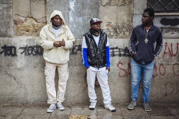 Image result for migrants gangs in italy