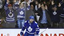 Toronto Maple Leafs Phil Kessel and fans celebrate his goal (Mark Blinch/Reuters)