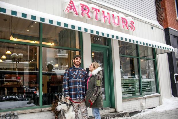 Alex Cohen and Raegan Steinberg, the married couple behind Montreal's year-old Arthurs.