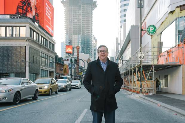 Mark Garner, executive director of the Downtown Yonge BIA, says his organization is trying to do more to protect live music venues. Hard Rock Cafe, on the left, is among recent casualties.