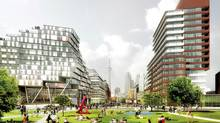 Canary District, park view looking west. (DundeeKilmer Integrated Design Team)