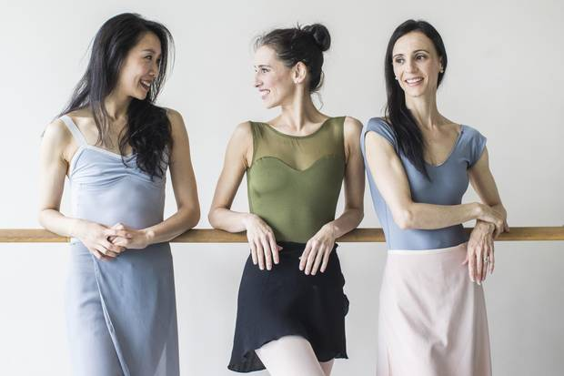 The National Ballet of Canada's Xiao Nan Yu, Sonia Rodriguez and Greta Hodgkinson have all been with the company for at least 20 years.
