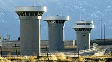 Guard towers loom over the administrative maximum security facility, the highest security area at the Federal Prison in Florence, Colo., Wednesday, Feb 21, 2007 (Chris McLean/AP)