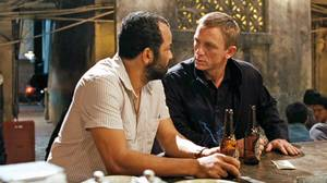 Daniel Craig as James Bond and Jeffrey Wright as CIA man Felix Leiter talk in a bar in the Quantum of Solace. Experts say intelligence agencies may also have particularly close relationships.