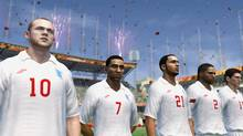 A screenshot of team England from EA's 2010 FIFA World Cup South Africa (Electronic Arts)