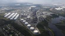 An aerial view of Irving Oil's refinery near Saint John, N.B. (Christinne Muschi for The Globe and Mail)