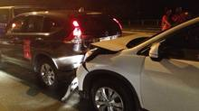 Photo of car accident involving LPGA players Paula Creamer and Ai Miyazato as taken by fellow player Suzann Pettersen
