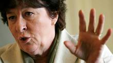 Louise Arbour of Canada gestures during an interview in Geneva. (DENIS BALIBOUSE/DENIS BALIBOUSE/REUTERS)