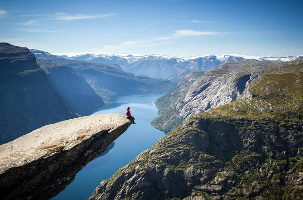The 11-kilometre hike up to 'Troll's Tongue' cliff near Trolltunga, Norway, is only available certain times of the year, but gives travellers a chance at an Insta-shot for the ages.