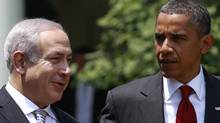 U.S. President Barack Obama and Israeli Prime Minister Benjamin Netanyahu during a White House meeting on July 6, 2010. (Jim Young/Reuters/Jim Young/Reuters)