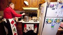 Gerene Murphy produces 500-600 perogies a week in her Windsor, Ont., kitchen. (GEOFF ROBINS)