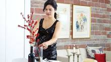 Stefanie Tortorella preps for a dinner party in her home. (Ashley Capp for The Globe and Mail)