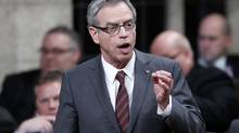 Canada's Natural Resources Minister Joe Oliver speaks during Question Period in the House of Commons on Parliament Hill in Ottawa March 26, 2013. (CHRIS WATTIE/REUTERS)