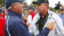 Fred Couples and Nick Price