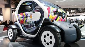 A Renault Twizy Zero Emission electric concept car