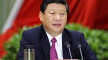 FILE PHOTO: In this photo taken Sept. 1, 2012 and released by China's Xinhua News Agency, Chinese Vice President Xi Jinping addresses the opening ceremony of the autumn semester of the Party School of the Communist Party of China in Beijing. (Li Tao/AP)