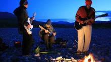 "Shad (right) and The Besnard Lakes in a scene from ""The National Parks Project"" (Handout)"