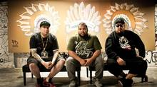 A Tribe Called Red is a sought after act this summer, attracting bookers from Brooklyn hot spots as well as folk festivals and major pop-and-rock events. A TRIBE CALLED RED TEAMS UP WITH PIRATES BLEND RECORDS AND TRIBAL SPIRIT MUSIC TO RELEASE NEW ALBUM NATION II NATION MAY 7th Handout photo