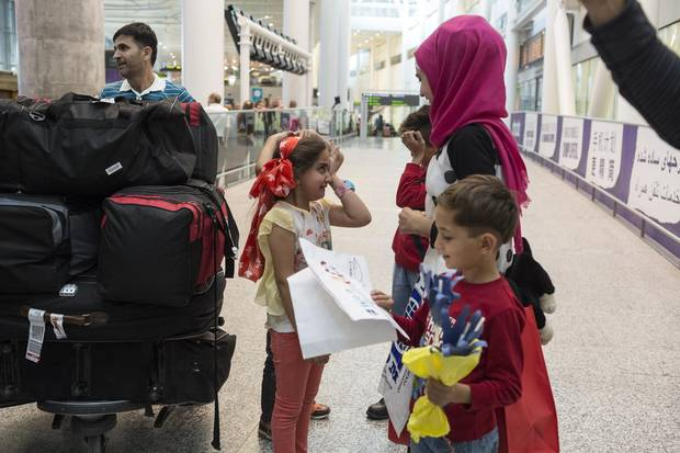 Meram has to wipe tears from her eyes as she reconnects with her aunt and cousins. Pearson is where the Suleymans arrived as well, after a scramble to get out of Syria, and then Turkey.