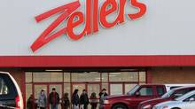 Shoppers outside of the Zellers department store at the County Fair Mall in New Minas, N.S., in 2012 (Paul Darrow For The Globe and Mail)