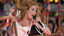 Miley Cyrus performs at the MuchMusic Video Awards in Toronto, Sunday June 20, 2010. (Adrien Veczan/Canadian Press)