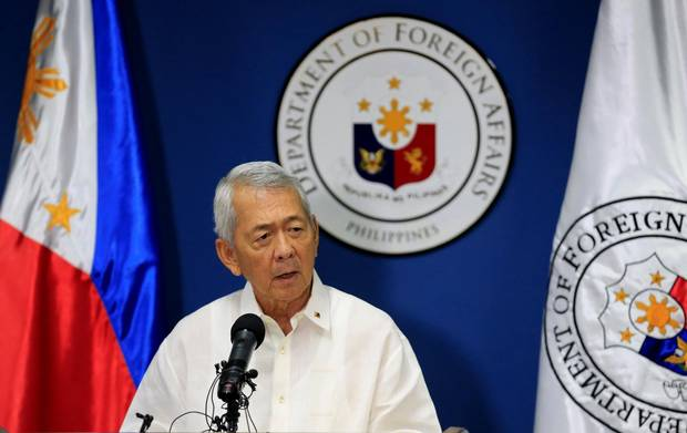 Philippine Foreign Secretary Perfecto Yasay gives a statement on the ruling on July 12, 2016. REUTERS/Romeo Ranoco