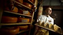 Afrim Pristine at the Cheese Boutique in Toronto (Peter Power for The Globe and Mail)