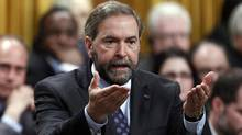 New Democratic Party leader Thomas Mulcair speaks during Question Period in the House of Commons on Parliament Hill in Ottawa June 6, 2012. (CHRIS WATTIE/REUTERS)