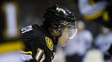 Nail Yakupov of the Sarnia Sting warms up prior to his OHL game against the Mississauga St. Michael's Majors at the Hershey Centre in Mississauga Sunday Nov. 13, 2011. (Tim Fraser For The Globe and Mail)